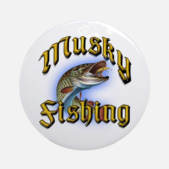 Musky Fishing 2 Ornament (Round)