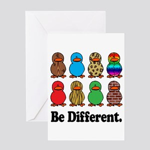 Be Different Ducks Greeting Card