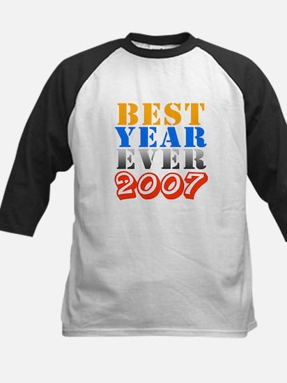 Best year ever 2007 Kids Baseball Jersey