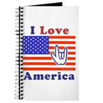ILY America Flag Journal