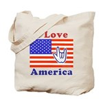 ILY America Flag Tote Bag
