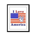 ILY America Flag Framed Panel Print