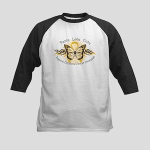 CC Butterfly Tribal Kids Baseball Jersey