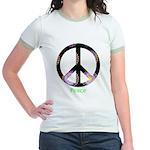 Zen Peace Symbol Jr. Ringer T-Shirt
