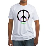 Zen Peace Symbol Fitted T-Shirt