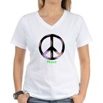 Zen Peace Symbol Women's V-Neck T-Shirt