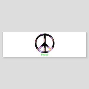 Zen Peace Symbol Bumper Sticker
