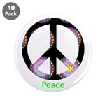 """Zen Peace Symbol 3.5"""" Button (10 pack)"""