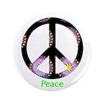 """Zen Peace Symbol 3.5"""" Button"""
