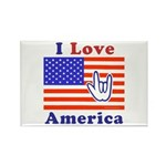 ILY America Flag Rectangle Magnet (10 pack)