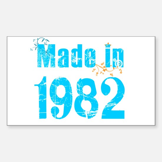 Frest blue made in 1982 Rectangle Decal