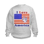 ILY America Flag Kids Sweatshirt