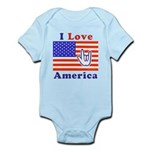 ILY America Flag Infant Bodysuit