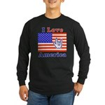 ILY America Flag Long Sleeve Dark T-Shirt