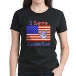 ILY America Flag Women's Dark T-Shirt