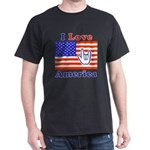 ILY America Flag Dark T-Shirt