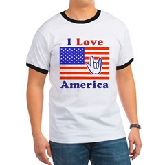 ILY America Flag T