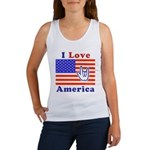 ILY America Flag Women's Tank Top