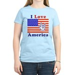 ILY America Flag Women's Light T-Shirt