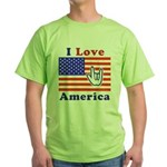 ILY America Flag Green T-Shirt