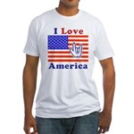 ILY America Flag Fitted T-Shirt
