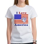 ILY America Flag Women's T-Shirt