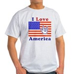 ILY America Flag Light T-Shirt