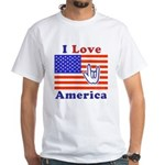 ILY America Flag White T-Shirt
