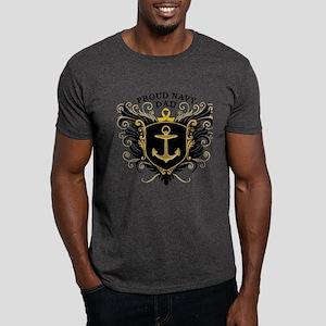 Proud Navy Dad Dark T-Shirt