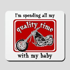 Biker quality time Mousepad
