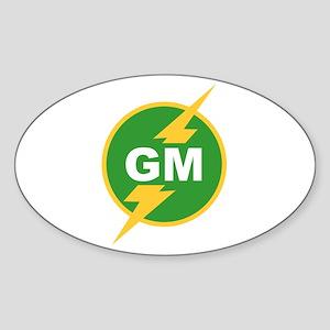 GM Groomsman Oval Sticker