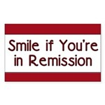 Smile if you're in Remission Rectangle Sticker 50