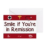 Smile if you're in Remission Greeting Cards (Pk of