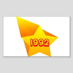 All Star 1992 Rectangle Sticker