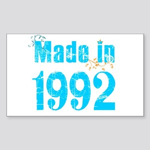 Made in 1992 Rectangle Sticker