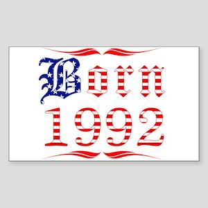 Born All American 1992 Rectangle Sticker