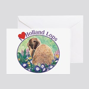 Heart Holland Lops Rabbit Greeting Cards (Pk of 20