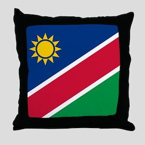 Flag of Namibia Throw Pillow