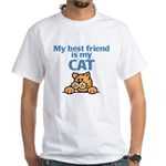 Best Friend (Cat) White T-Shirt