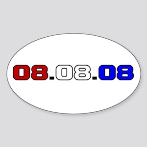 08.08.08 Oval Sticker