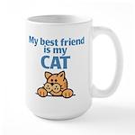 Best Friend (Cat) Large Mug