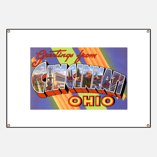Cincinnati Ohio Greetings Banner