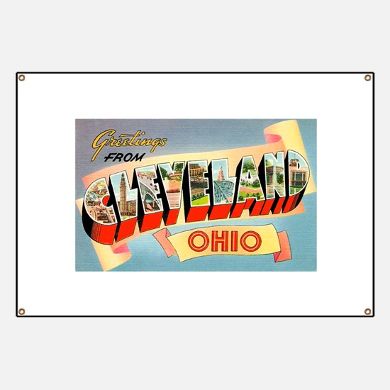 Cleveland Ohio Greetings Banner