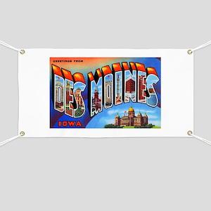 Des Moines Iowa Greetings Banner