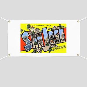 San Jose California Greetings Banner