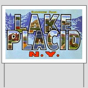 Lake Placid New York Yard Sign