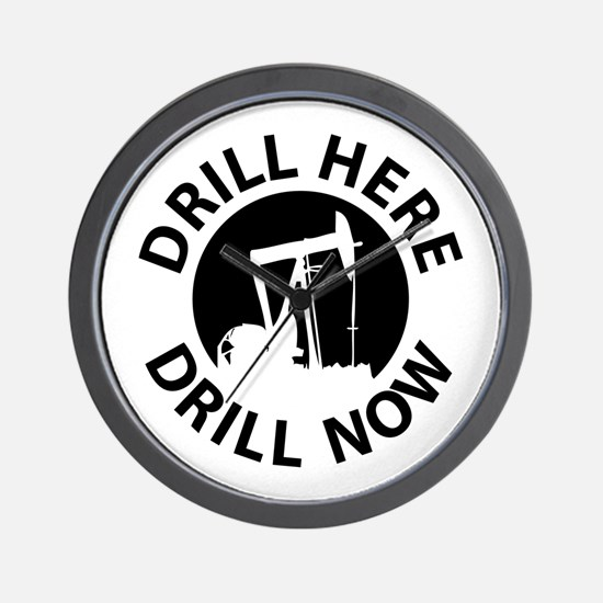 Drill Here Drill Now Wall Clock