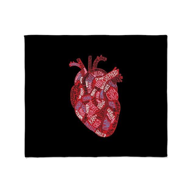 Grey\'s Anatomy Heart Throw Blanket by GreysAnatomy8