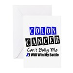 Colon Cancer Can't Bully Me Greeting Cards (Pk of