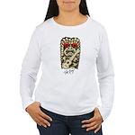Ukulele Playing Tiki Women's Long Sleeve T-Shirt